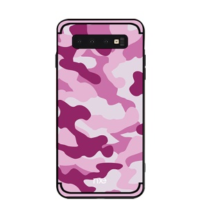 NXE Camouflage Pattern PC TPU Hybrid Case for Samsung Galaxy S10 Lite - Pink