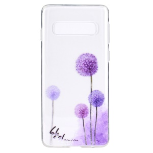 Pattern Printing TPU Mobile Phone Cover for Samsung Galaxy S10 - Dandelion