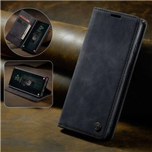 CASEME 013 Series PU Leather Case [Auto-absorbed] [Wallet Stand] for Samsung Galaxy S10 Plus - Black