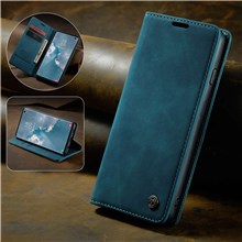 CASEME for Samsung Galaxy S10 PU Leather Shell [Auto-absorbed] [Wallet Stand] - Blue