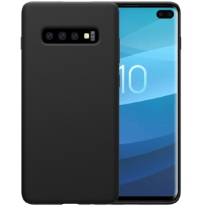 NILLKIN Flex Pure Series Liquid Silicone Cell Phone Cover for Samsung Galaxy S10 Plus - Black