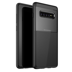 TPU+PC Phone Case Back Cover for Samsung Galaxy S10 Plus - Black
