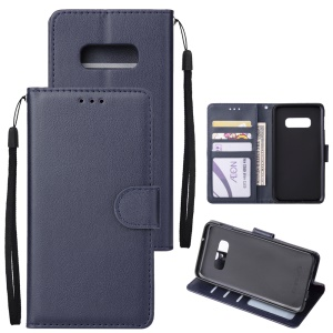 Leather Stand Case with Card Slots for Samsung Galaxy S10e - Dark Blue