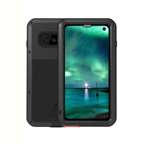 LOVE MEI Powerful Metal Defender Case for Samsung Galaxy S10 Dust-proof Shock-proof Splash-proof Cover - Black