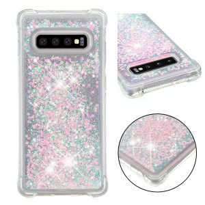 Mobile Phone Case for Samsung Galaxy S10 Plus Glitter Powder Quicksand Shockproof TPU Case - Pink