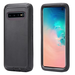 For Samsung Galaxy S10 Shockproof Drop-proof Dust-proof PC + TPU Protection Shell - All Black
