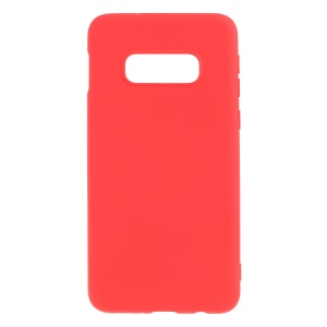 Soft Liquid Silicone Protective Phone Cover for Samsung Galaxy S10e - Red