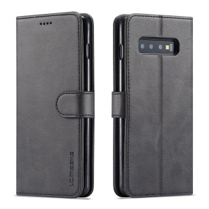 LC.IMEEKE Wallet Leather Stand Case for Samsung Galaxy S10 - Black