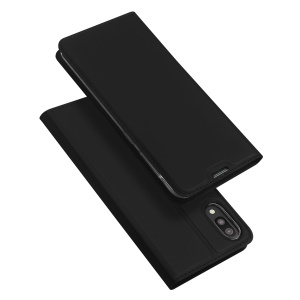 DUX DUCIS Skin Pro Series Leather Stand Case for Samsung Galaxy M10 - Black