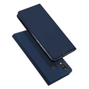DUX DUCIS Skin Pro Series Leather Stand Case for Samsung Galaxy M20 - Dark Blue