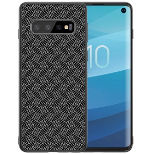 NILLKIN Synthetic Fiber Plaid Pattern PC TPU Hybrid Case Cover for Samsung Galaxy S10