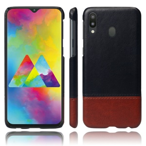 KSQ Bi-color Splicing PU Leather Coated PC Phone Shell for Samsung Galaxy M30