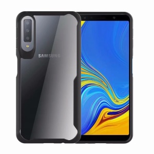 Shock Absorption PC + TPU Hybrid Mobile Phone Cover for Samsung Galaxy A7 (2018) - Black