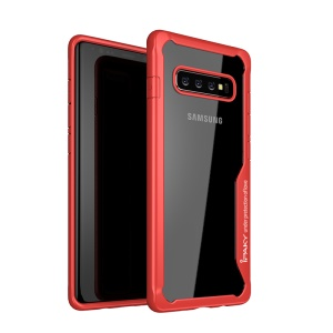 IPAKY Anti-queda PC + Tampa Do Celular Híbrido TPU Para Samsung Galaxy S10 Plus - Vermelho