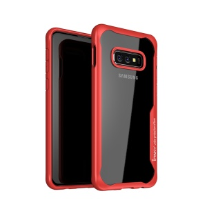 IPAKY Anti-drop PC + TPU Hybrid Shell Case for Samsung Galaxy S10e - Red