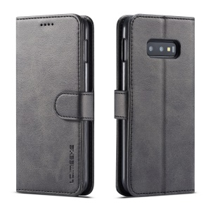 LC.IMEEKE Wallet Leather Stand Case for Samsung Galaxy S10e - Black