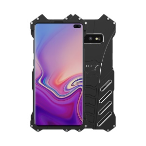 R-JUST Full Covering Cool Metal Shockproof Phone Case for Samsung Galaxy S10 Plus with Bracket