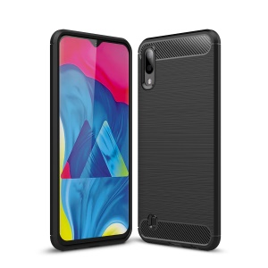 Carbon Fiber Texture Brushed TPU Case for Samsung Galaxy M10 - Black
