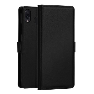 DZGOGO [Milo Series] PU Leather Wallet Case for Samsung Galaxy M20 - Black