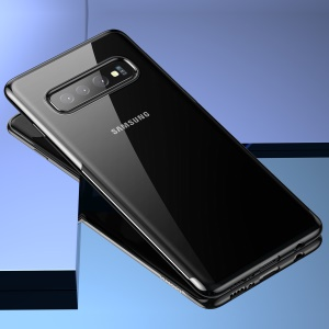 BASEUS Shining Series Plated TPU Mobile Case for Samsung Galaxy S10 - Black