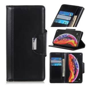 PU Leather Flip Case with Wallet for Samsung Galaxy A30/A20 - Black