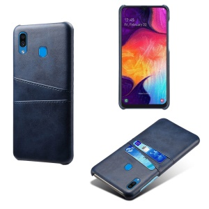 KSQ PU Leather Coated PC Case with [Dual Card Slots] for Samsung Galaxy A30 - Dark Blue