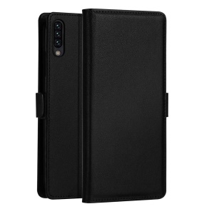 DZGOGO [Milo Series] for Samsung Galaxy A50 PU Leather Wallet Stand Case - Black