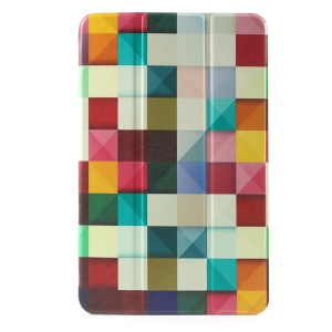Tri-fold Stand Leather Case for Samsung Galaxy Tab E 9.6 T560 - Colorful Triangle Pattern
