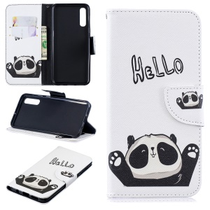 Pattern Printing PU Leather Wallet Cover for Samsung Galaxy A50 / A50s / A30s - Cute Panda