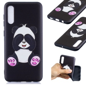Embossment Patterned TPU Soft Protector Cover Case for Samsung Galaxy A50 / A50s / A30s - Cute Panda