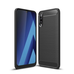 Carbon Fibre Brushed TPU Case for Samsung Galaxy A50 - Black