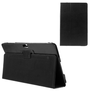 Litchi Skin Leather Stand Case for Samsung ATIV Smart PC XE500T - Black