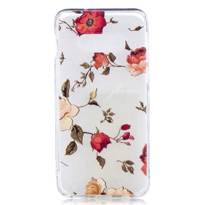 Pattern Printing TPU Protection Phone Case for Samsung Galaxy S10e - Flower Pattern