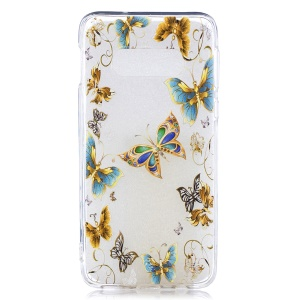Pattern Printing TPU Case for Samsung Galaxy S10e - Butterfly Pattern
