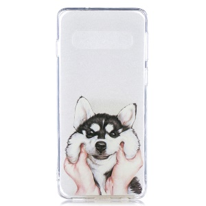 Pattern Printing TPU Protection Phone Case for Samsung Galaxy S10 - Dog
