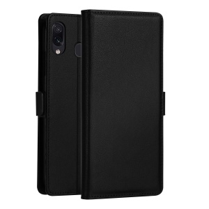 DZGOGO Milo Series PU Leather Wallet Stand Phone Case for Samsung Galaxy A30 - Black