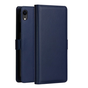 DZGOGO Milo Series PU Leather Phone Cover with Card Holder for Samsung Galaxy A10 - Blue