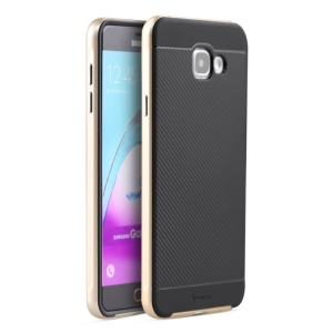 IPAKY PC + TPU Hybrid Case Protector for Samsung Galaxy A5 SM-A510F (2016) - Gold