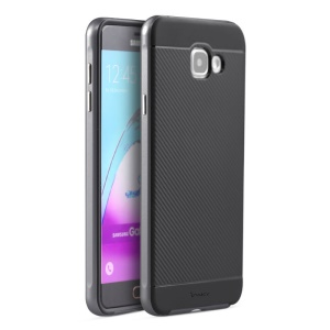 IPAKY Hybrid PC and TPU Cover for Samsung Galaxy A7 SM-A710F (2016) - Grey