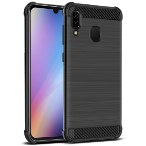 IMAK Vega Carbon Fiber Air Bag Case Brushed TPU Cover for Samsung Galaxy A40