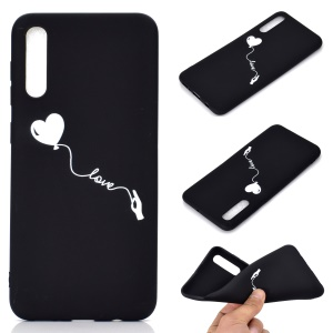 Matte Pattern Printing TPU Case Accessory for Samsung Galaxy A50 / A50s / A30s - Heart and Love