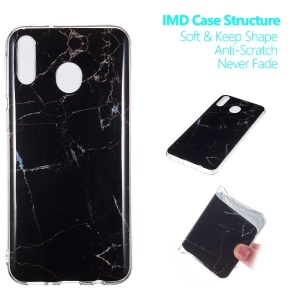 Marble Pattern IMD TPU Case for Samsung Galaxy M20 - Style A