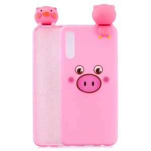 [3D Animal Doll] Pattern Printing TPU Back Case for Samsung Galaxy A50 / A50s / A30s - Pig