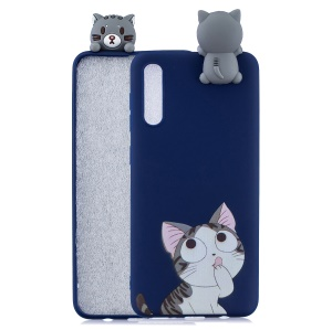 [3D Animal Doll] Pattern Printing TPU Back Case for Samsung Galaxy A50 / A50s / A30s - Cat