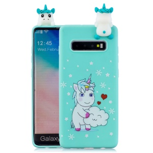 [3D Animal Doll] Pattern Printing TPU Phone Case for Samsung Galaxy S10 Plus - Unicorn