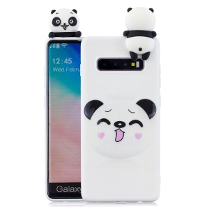 For Samsung Galaxy S10 Pattern Printing TPU Cell Phone Case with 3D Animal Doll - Koala