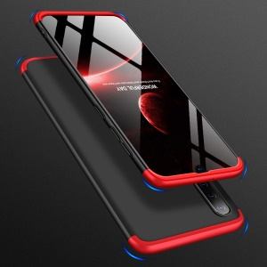 GKK Matte PC Mobile Phone Cover Detachable 3-Piece for Samsung Galaxy A50 / A50s / A30s - Black / Red
