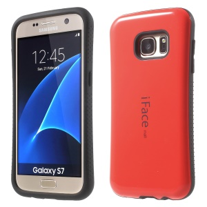 IFACE MALL Glossy PC + Housse hybride TPU pour Samsung Galaxy S7 G930 - rouge