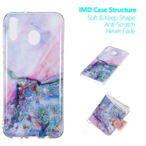 Marble Pattern IMD TPU Cell Phone Cover for Samsung Galaxy M20 - Style I