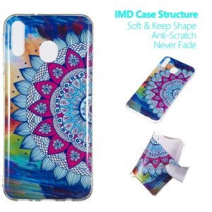 Noctilucent IMD TPU Phone Case Accessory for Samsung Galaxy M20 - Flower Pattern